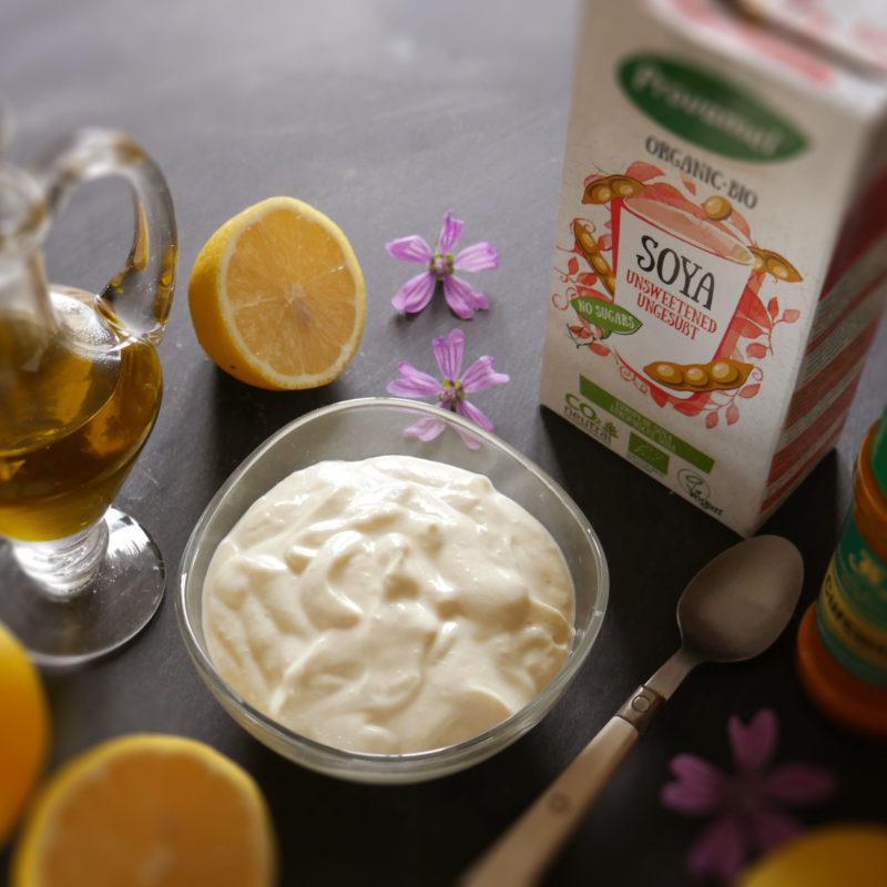 Come fare la maionese vegana con bevanda di soia naturale