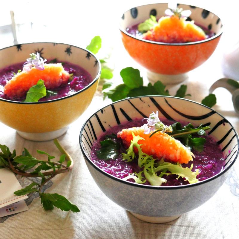 Raw Food: Crema a crudo di Cavolo Cappuccio Viola!