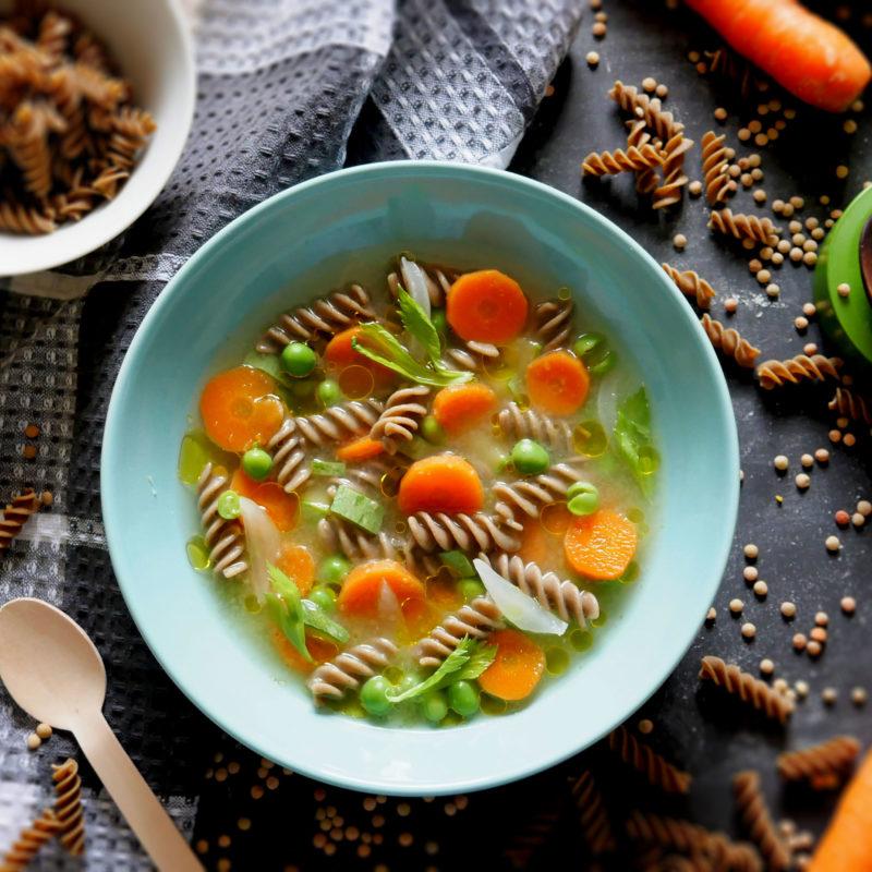 Sere tiepide di autunno: Fusilli di Lenticchie Bio in minestra con spezie!